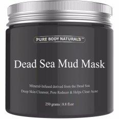 Beli Pure Body Naturals Beauty Dead Sea Mud Mask For F*c**l Treatment Masker Muka Pure Body Naturals
