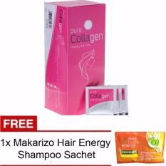 Pure Collagen Suplemen Pemutih Kulit 1 Box 30 Sachet Original FREE Makarizo Hair Energy Shampoo 1 Sachet