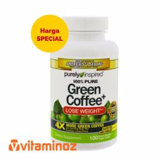 Purely Inspired 100% Pure Green Coffee 100 vcap /weight loss