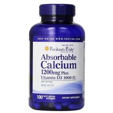 Jual Puritan Pride Absorbable Calcium 1200 Mg With Vitamin D3 1000 Iu 100 Softgels Lengkap