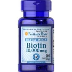 Puritan Pride Biotin 10,000mcg - 100 Softgels