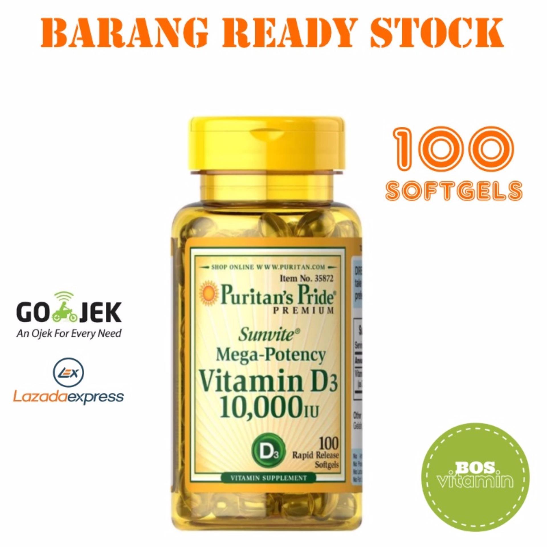 Pencari Harga Puritan's Pride Mega Potency Vitamin D3 10000IU - 100 Softgel terbaik murah - Hanya Rp169.670
