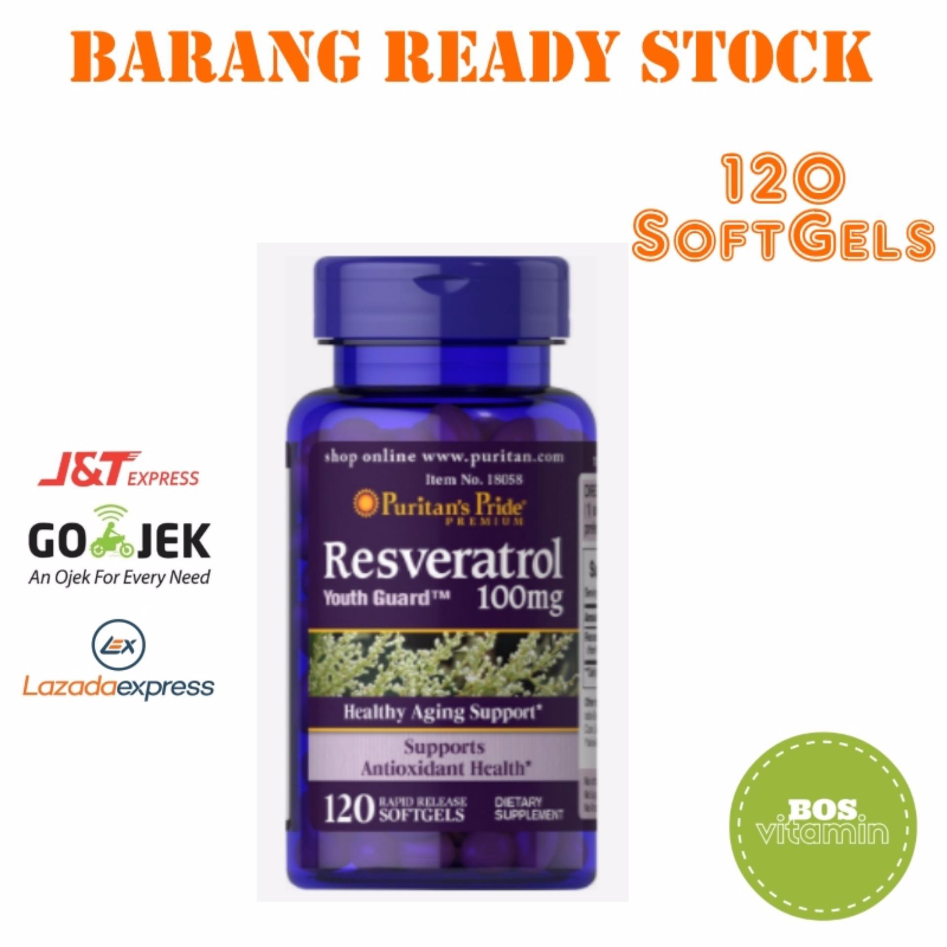 Pencarian Termurah Puritan's Pride Resveratrol Healthy Aging Support - 120 SoftGels harga penawaran - Hanya Rp287.700