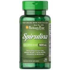Beli Puritan Pride Spirulina 500 Mg Stamina Daya Tahan 100 Tablets Kredit