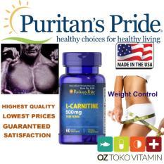 Puritan's Pride L-Carnitine 500mg 60 Capsules /Suplemen Pelangsing Metabolisme Lemak
