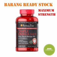 Spesifikasi Puritan S Pride Maximum Strength Triple Omega 3 6 9 120 Softgels Puritan Pride