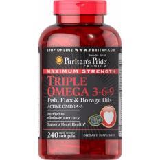 Beli Puritan S Pride Maximum Strength Triple Omega 3 6 9 240 Softgels Pake Kartu Kredit