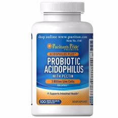 Tips Beli Puritan S Pride Probiotic Acidophilus With Pectin 100 Capsules