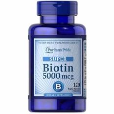 Toko Puritans Pride Super Biotin 5000 Mcg Kesehatan Rambut Kulit 120 Softgel Online