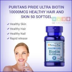 Review Toko Puritans Pride Ultra Biotin 10000Mcg Kesehatan Rambut Kulit 50 Softgel Online