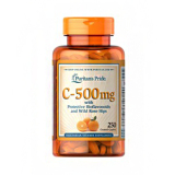 Jual Puritan S Pride Vitamin C 500 Mg With Bioflavonoids Rose Hips 250 Caplets Antik
