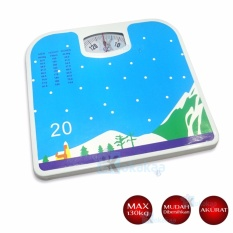 Beli Q2 Timbangan Badan Manual Bathroom Scales Motif Gunung Bersalju Kredit Indonesia