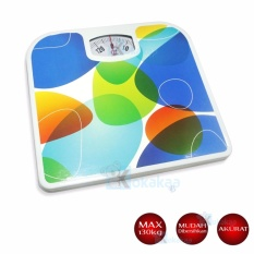 Promo Q2 Timbangan Badan Manual Bathroom Scales Motif Warna Di Indonesia