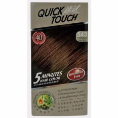 Quick Touch Hair Coloring Dye / Pewarna Rambut 1 Menit Best Seller / Penutup Uban Bebas Amonia- (543 Light Mahogany Copper Brown)