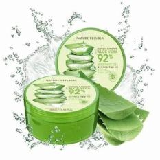 Perbandingan Harga 【Ready】100 Ori Nature Republic Soothing Moisture Aloe Vera Gel 92 300Ml Di Indonesia