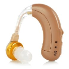 Isi Ulang BTE The Hook Telinga Pendengar With 4-mode Kontrol Volume-coklat Muda