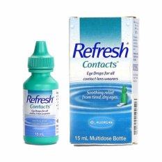 Promo Refresh Contacts Eye Drops 15 Ml By Allergan Allergan