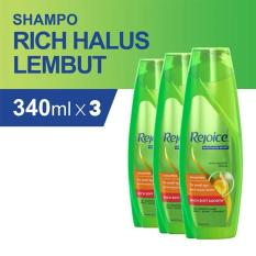 Jual Rejoice Shampoo Rich 340Ml Pack Of 3 Branded Murah