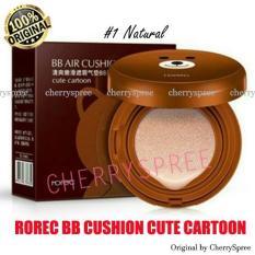 Rorec BB Cushion Cartoon Brown Line Bedak Padat Foundation Make Up Lebih Merata - Varian #1 NATURAL
