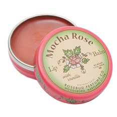 Jual Beli Online Rosebud Mocha Rose Lip Balm With Vanilla Tin