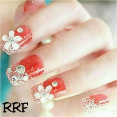 RRF-wedding party fake nails-kuku palsu pernikahan-aksesoris kuku dan nailart(