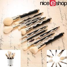 Ruixiang 10 Pcs Khusus Super Soft Makeup Brush Cosmetics Foundation Blending Brush Kuas Bedak Wajah-Intl