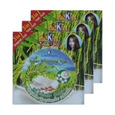 Jual Sabun Beras Thailand Susu Madu Serta Mutiara 3 In 1 3Pcs Import