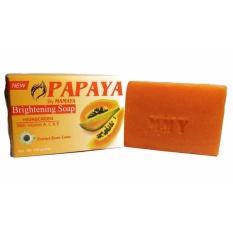 Sabun Papaya By MAMAYA Brightening Soap With Suscreen - Sabun Pemutih Wajah Pepaya