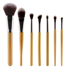 [Penjualan Di Breakdown Harga] Maya Keuntungan Rendah Baru 7 Pcs Riasan Profesional Foundation Kuas Set Mata Wajah Bubuk blusher Krim Kosmetik Kuas Perlengkapan (Emas) -Internasional