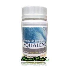 Spesifikasi Salmon Fish Lever Oil Squalene 100 Sotgel 2 Botol Bagus