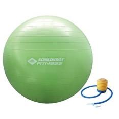 Schildkröt Fitness exercise ball Sitzball Fitnessball, verschiedene sizes wählbar, 65cm, with Ballpumpe, phthalatfrei, schwere Anti Burst quality to 120kg, Reha Schwangerschaft, Rückentraining im Büro, grün, 960055-960058 - intl