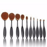 Harga Seongnam Oval Makeup Brush Kuas Makeup Oval 10 Pcs New Model Termurah