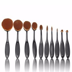 Seongnam Oval Makeup Brush Kuas Makeup Oval 10 Pcs New Model Terbaru
