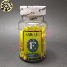 Serum Vitamin Wajah ANIMATE USA ORIGINAL Aloe Vera Facial Oil - 60 Softgels