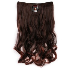Seven 7 Revolution Hair Clip Keriting Curly Darkbrown  Big Layer 60 cm - Coklat Tua / Hairclip Korea