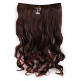 Harga Seven 7 Revolution Hair Clip Keriting Wavy Darkbrown Big Layer 60 Cm Coklat Tua Hairclip Korea Murah