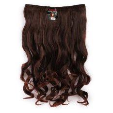 Cara Beli Seven 7 Revolution Hair Clip Keriting Wavy Darkbrown Big Layer 60 Cm Coklat Tua Hairclip Korea