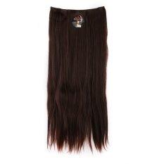 Harga Seven 7 Revolution Hair Clip Lurus Super Straight Dark Brown Big Layer 70 Cm Cokelat Tua Hairclip Korea Termurah