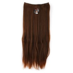 Seven 7 Revolution Hair Clip Lurus Super Straight Light Brown  Big Layer 70 cm -Cokelat Muda - Hairclip Korea
