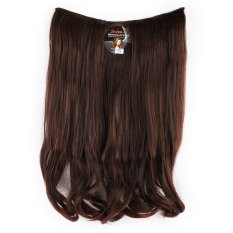 Seven 7 Revolution Hair Clip Short Wavy Big Layer 50 cm - Coklat Tua Dark Brown / Hairclip Korea