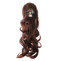 Seven 7 Revolution Hairclip Ponytail Jepit Curly Short 35 cm Cokelat Muda - Hair Clip Klip Korea
