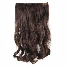 Jual Seven 7 Revolution Semi Human Hair Clip Curly 7 Revolution Cokelat Muda Branded Original