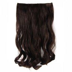 Spesifikasi Seven 7 Revolution Semi Human Hair Clip Curly 7 Revolution Cokelat Tua Terbaik