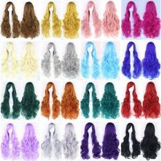 Shakalaka Cos Cosplay Wig Wanita Long Curly Rambut Wig Multicolor Hair 80 Cm -Intl