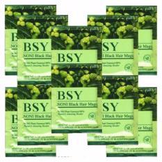 Shampo BSN NONI – 10 Sachet Natural Black Hair BPOM RI, ASLI HERBAL Teknologi USA  Grosir BSY Original