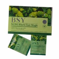 Shampo BSY NONI – 1 Box 20 Sachet Natural Black Hair BPOM RI, ASLI HERBAL TERBUKTI Teknologi USA | Grosir BSY Original