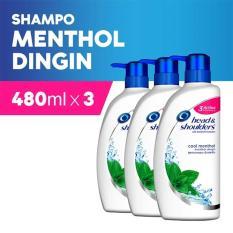 Jual Shampoo Head Shoulders 480Ml Cool Menthol Pack Of 3 Murah