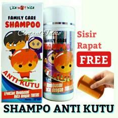 Central Ploso Shampoo Paket Pembasmi Kutu Shampo Anti Kutu + Sisir rapat / serit / Sampo Lice / Sha