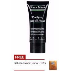 Shills Black Mask Kiss Beauty Deep Cleansing Acne Purifying Peel-off / Masker Wajah dan Komedo + Gratis Naturgo Masker Lumpur - 1 Buah