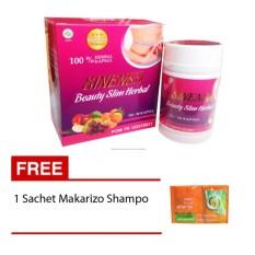Sinensa Beauty Slim Herbal Obat Herbal Pelangsing Herbal Alami Sekaligus Suplemen Pemutih - isi 50 Capsule Free 1 Sachet Makarizo Shampo